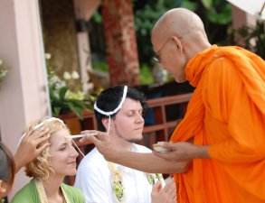 Свадебная церемония в буддийском храме + церемония на пляже